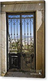 Doorway To Santorini Acrylic Print by Dennis Hedberg