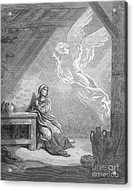 Dor�: The Annunciation Acrylic Print by Granger