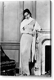 Dorothy Lamour, Ca. Late 1940s Acrylic Print by Everett