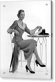 Dorothy Mcguire, Ca. 1950s Acrylic Print by Everett