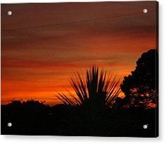 Acrylic Print featuring the photograph Dorset Sunset by Katy Mei