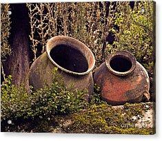 Dos Chorreras Pottery Acrylic Print by Al Bourassa