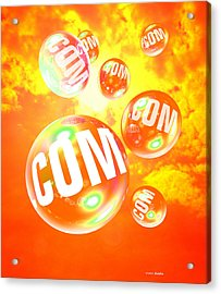 Dot Com Bubbles Acrylic Print by Victor Habbick Visions