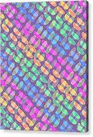 Dotted Check Acrylic Print
