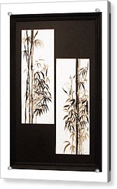 Acrylic Print featuring the painting Double Bamboo by Alethea McKee