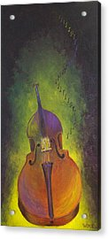 Double Bass Acrylic Print by Bill Werle