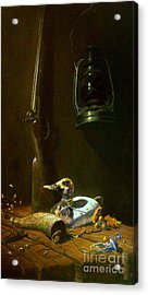 Double Hammer Duck Hunt Acrylic Print by Tom Jennerwein