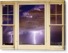 Double Lightning Strike Picture Window Acrylic Print by James BO  Insogna