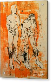 Double Male Nude Acrylic Print