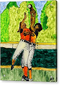 Double Play Acrylic Print by Phil Strang