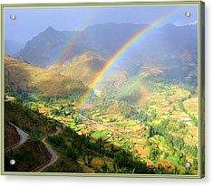 Double Rainbow Acrylic Print by Satya Winkelman