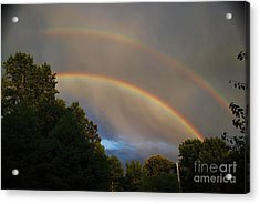 Double Rainbow Acrylic Print by Science Source