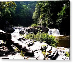 Double Waterfalls Acrylic Print by Carrie Munoz