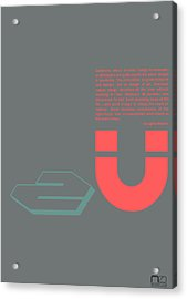 Douglas Martin Poster Acrylic Print by Naxart Studio