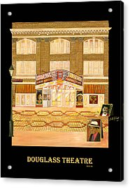 Douglass Theatre Acrylic Print by Leah Holland