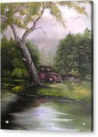 Down By The Lake Acrylic Print by Laura Brown