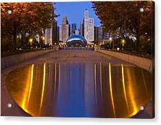down the aisle toward Cloudgate Acrylic Print