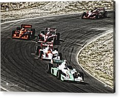 Down The Raceway Acrylic Print by Donna Blackhall