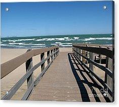 Down To The Beach Acrylic Print by Cedric Hampton