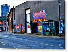Acrylic Print featuring the photograph down town Toronto lake shore area  by Puzzles Shum