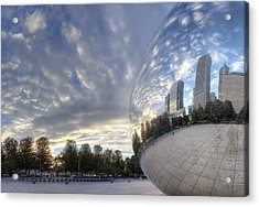 Downtown Chicago At Dawn Acrylic Print
