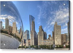 Downtown Chicago At Sunrise Acrylic Print