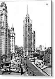 Downtown Chicago Acrylic Print by Underwood Archives