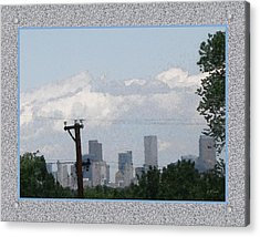 Downtown Denver Acrylic Print by Gretchen Wrede