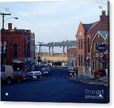 Downtown Eastport Maine Acrylic Print by Geri Harkin-Tuckett