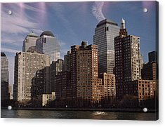 Downtown Financial District Acrylic Print by Justin Guariglia