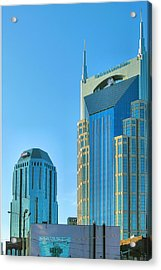Downtown Nashville I Acrylic Print by Steven Ainsworth