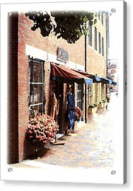 Downtown Newburyport Acrylic Print by Anthony Ross