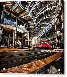 Downtown San Diego Trolley Station Acrylic Print