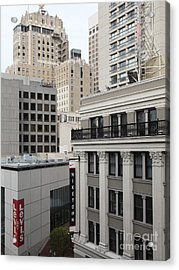 Downtown San Francisco Buildings - 5d19323 Acrylic Print by Wingsdomain Art and Photography