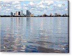 Downtown Tampa Over Hillsborough Bay Acrylic Print by Carol Groenen