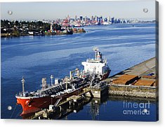 Downtown Vancouver Seen From Dockside Acrylic Print