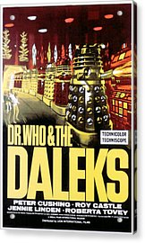 Dr. Who And The Daleks, 1965 Acrylic Print by Everett