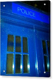 Dr Who Tardis Acrylic Print by Julie Butterworth