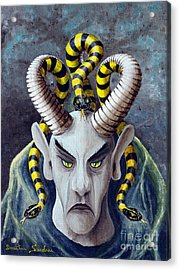 Acrylic Print featuring the painting Dracu Mort From Arboregal by Dumitru Sandru