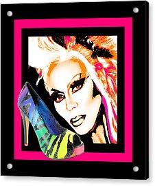 Drag And Stilettos Acrylic Print by Samuel Veta