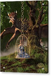 Dragon Bait Acrylic Print by Daniel Eskridge