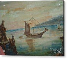 Dragon Boat Acrylic Print by Debbie Wassmann