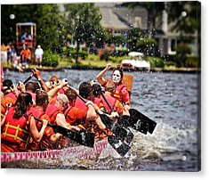 Acrylic Print featuring the photograph Dragon Boat Regatta  by Jim Albritton