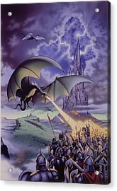 Dragon Combat Acrylic Print by The Dragon Chronicles - Steve Re