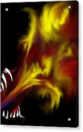 Acrylic Print featuring the digital art Dragon Fire by Angela Stout