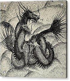 Dragon Love Acrylic Print