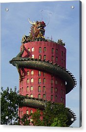 Dragon Temple Acrylic Print by Gregory Smith