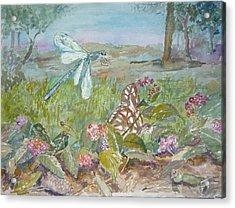 Dragonfly Acrylic Print by Dorothy Herron