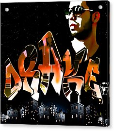 Drake 'watch Over The City' By Gbs Acrylic Print by Anibal Diaz