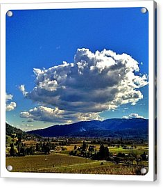 Dramatic Clouds Over #calistoga This Acrylic Print